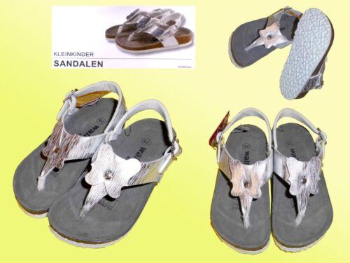 Fille Sandales Sandales Argent Avec Semelle Intérieure Bride D/'Orteil Taille 25-28 NEUF