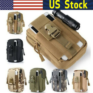 Tactical Molle Pouch Belt Waist Pack Bag Military Nylon Utility Outdoor Belt Bag