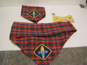 Vintage-Girl-and-Boy-scout-lot-bow-tie-pin-2-KERCHIEF