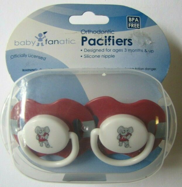 Lot of 2-4 Baby Fanatics Clemson Tigers Orthodontic Pacifiers NEW Licensed