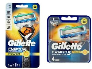 Razor-Gillette-Fusion-Proglide-Power-5-Razor-Blades-Replacement-NEW-and-Sealed