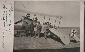 PHOTO-ORIGINALE-14-X-9-BIPLAN-ALLEMAND-1915-CAMPAGNE-BALKANS-1ere-GUERRE-n24