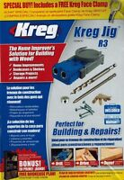 Kreg R3promo Pocket Hole Jig System Drill Bit Carrying Case Bonus Face Clamp on sale