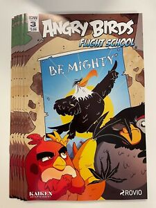 IDW ANGRY BIRDS : FLIGHT SCHOOL #3 REGULAR COVER : 6-COPY LOT : NM CONDITION