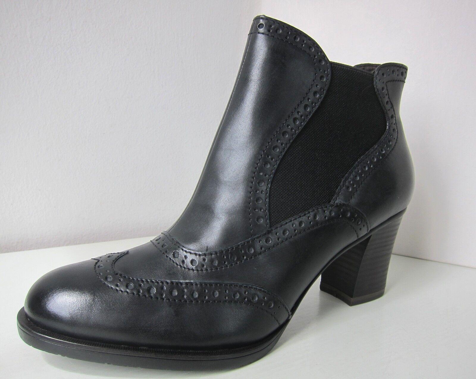 Tamaris Leder Stiefel bootee Stiefelette schwarz Gr 41 ankle Stiefel bootee Stiefel schwarz Leder 46f71c