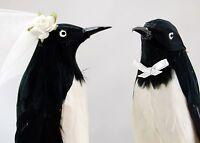 Penguin Love Birds Cake Topper: Humorous, Winter Wedding Cake Topper / Ornament