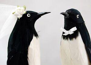 Penguin Love Birds Cake Topper Humorous Winter Wedding