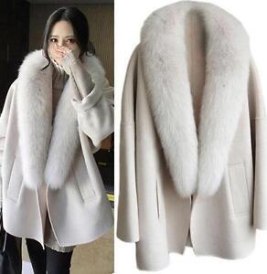 Cape Størrelse Winter S Loose Coats Fur Outwears Jakker 2xl Nye Kvinder Poncho Lapel wxY75OvOq