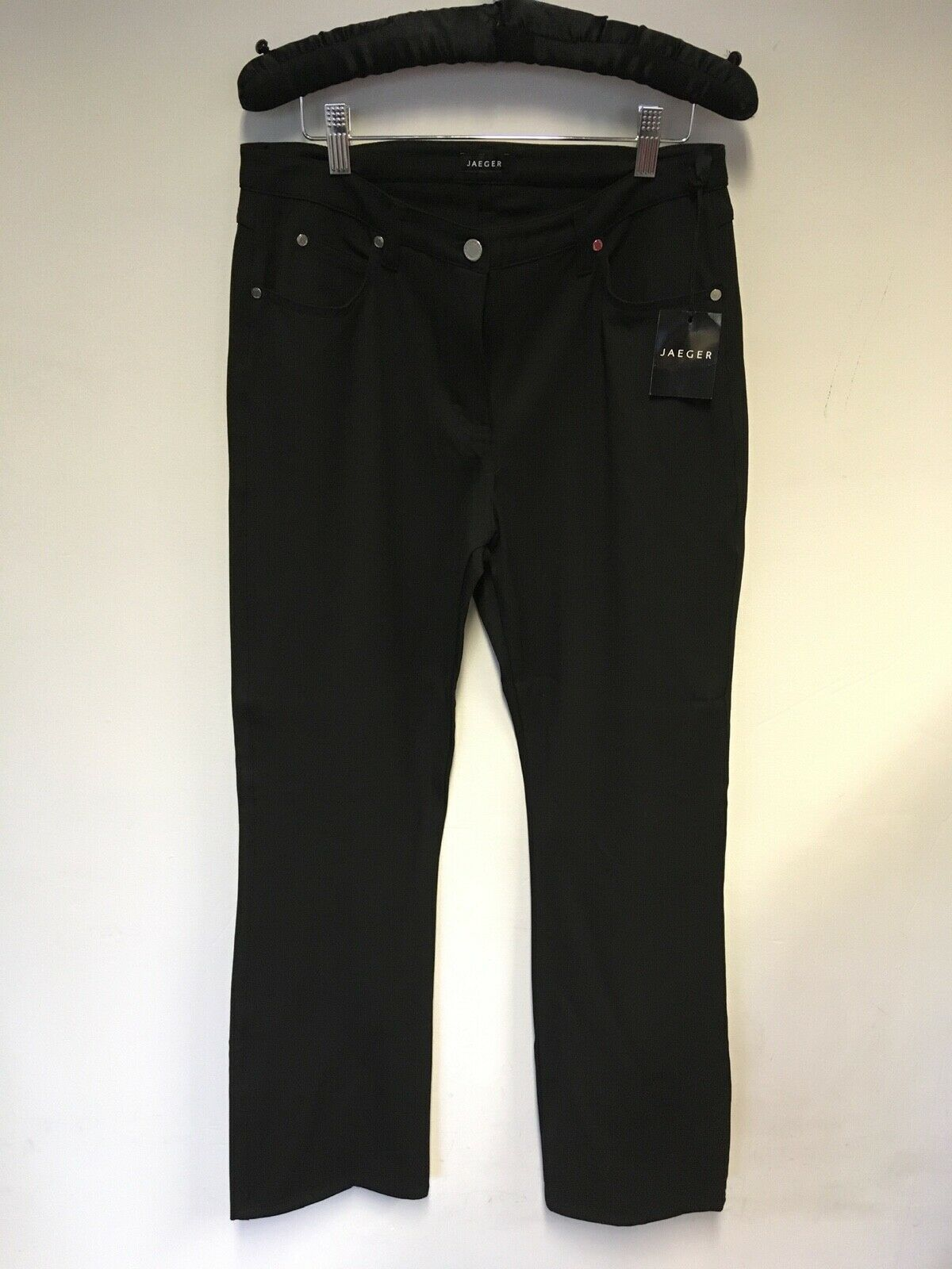 BNWT JAEGER Noir Stretch Pantalon Jeans Taille 12