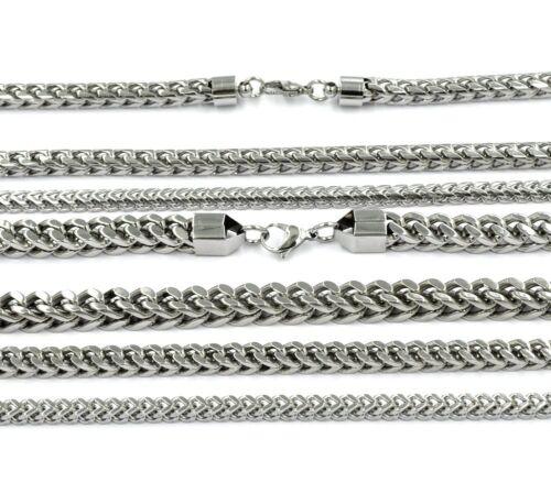 Herren Edelstahlkette Halskette Panzerkette Königskette Edelstahl Eckig Rund
