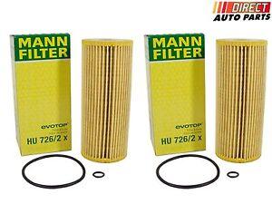 4 Volkswagen Oil Filter MANN HU 726//2 X Engine Oil Filter