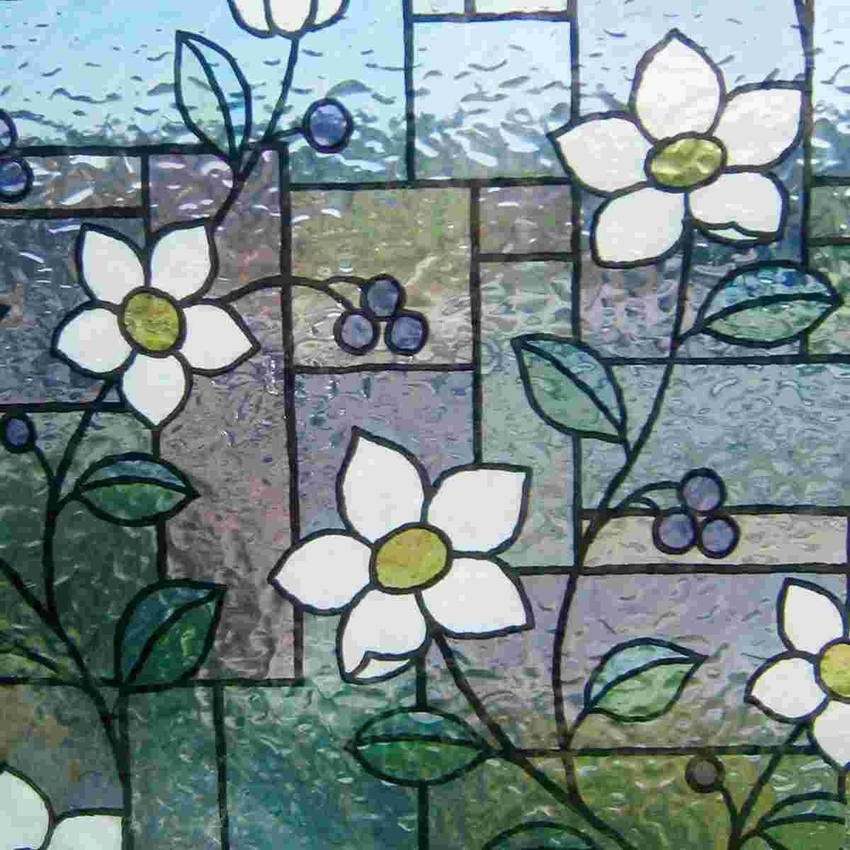 Lineafix estática ventana Diapositiva GLS 4657 flores altura 46 cm muchos tamaños glasdeko