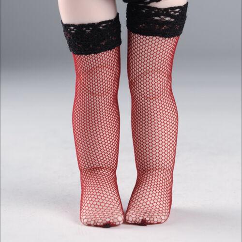 1//6 BJD YOSD USD  Dear Doll Size Dollmore Red Net Band Stockings