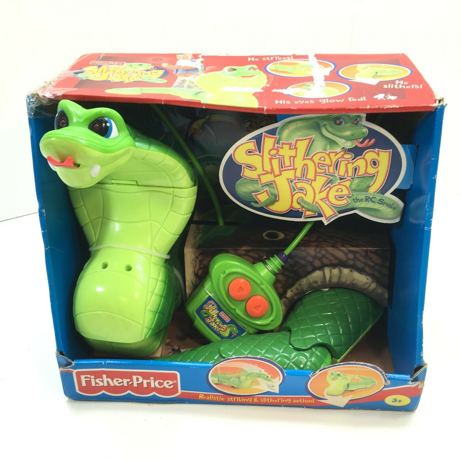 Slithering Jake il Snake RC Radio Control Original scatola Fisher-Price Mattel