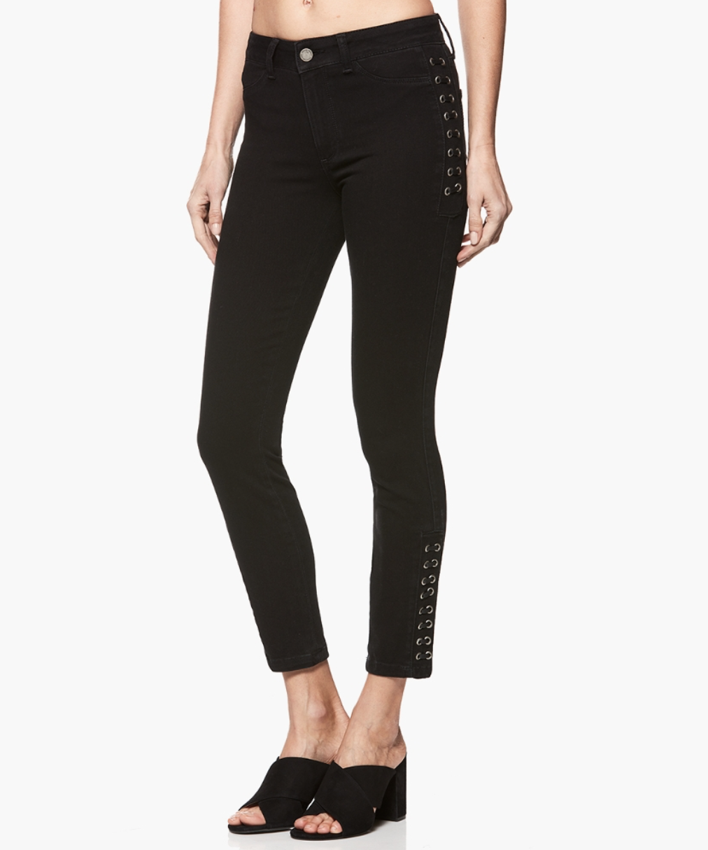 PAIGE Lacey Ultra Skinny Noir, Sky, taille 27, Neuf avec étiquettes