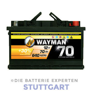 wayman autobatterie 12v 70ah 640a w70h starterbatterie l. Black Bedroom Furniture Sets. Home Design Ideas