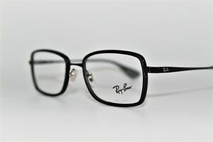 69d6ace1cd7e1 NEW AUTHENTIC RAY-BAN RB 6336 2509 BLACK FRAMES EYEGLASSES 53MM ...