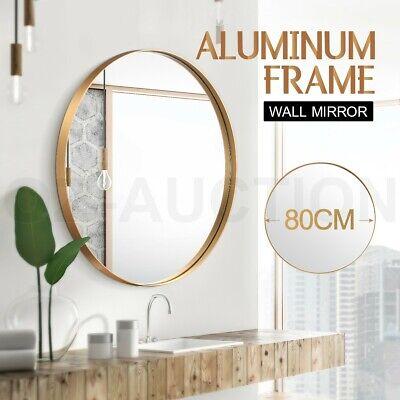 80cm Round Wall Mirror Bathroom Vanity Decor Gold Aluminum Frame Makeup Mirror Ebay