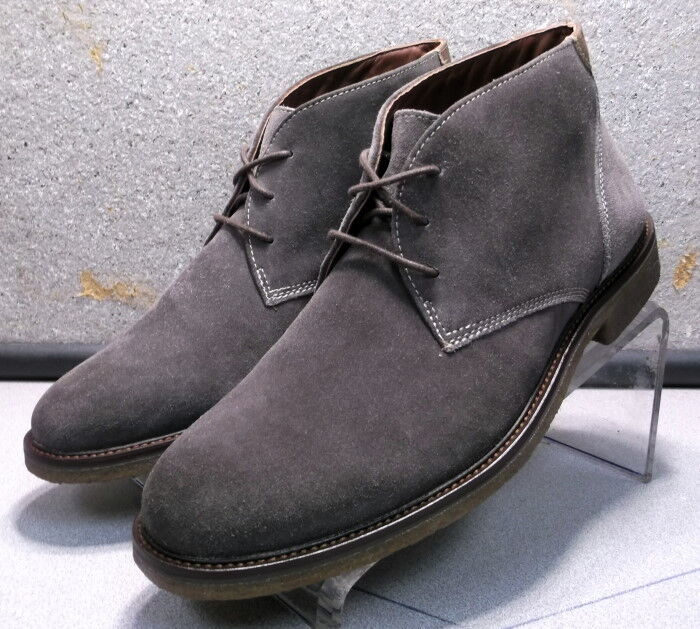 251567 MSBT50 Men's Shoes Size 10.5 M Grey Suede Lace Up Boots Johnston Murphy