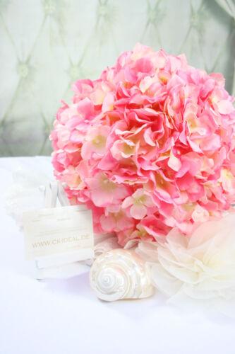 Hortensie rosa Kugel Ball ca Kirchendeko vintage 28cm super edel für Hochzeit
