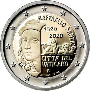 2-Commemorative-Coin-500-Death-Anniversary-Raffaello-St-IN-Original-Folder