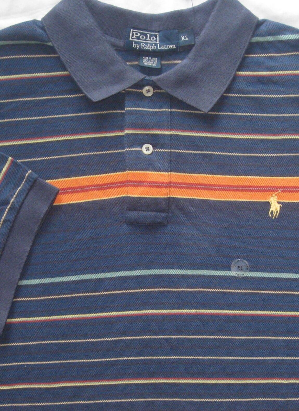 9f749d3c925c New Polo Ralph Lauren bluee Multi Striped Cotton Mesh Polo Shirt XL. Orvis  ...