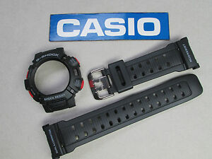 Genuine-Casio-G-Shock-Mudman-G-9000-watch-band-and-bezel-case-cover-set-black