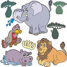 stickers enfant Animaux de la jungle 30x30cm réf 3511