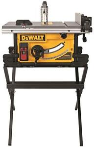 New dewalt dwe7490x 10 inch portable compact table saw 24 for 10 inch table saw comparison