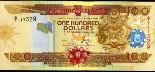 Uncirculated P  30 SOLOMON  ISLANDS 100 DOLLARS  2006  Prefix A//2 1
