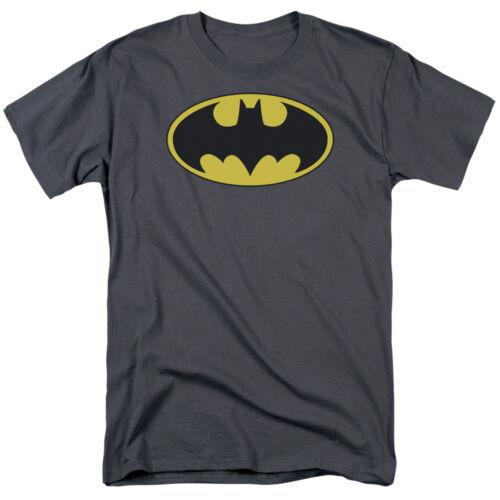 Batman Classic chauve-souris Logo Bouclier Sous Licence Adulte T-Chemise Toutes Les Tailles
