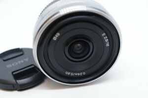 Silvery-Sony-SEL16F28-16mm-f-2-8-Wide-Angle-E-mount-Lens-For-NEX-3-5-6-7-A6000