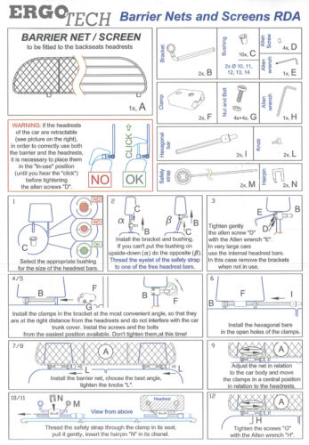 para perros y maletas Rejilla Separadora FORD S-Max 2006-2015