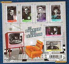 France La Feuille F4811 Personnages célèbres Les pionniers TV 2013 Neuf Luxe