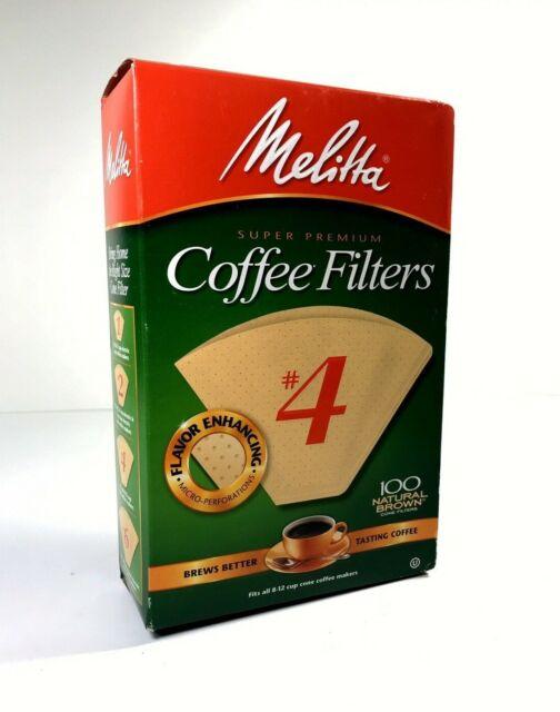 Pack of 3 No Melitta Super Premium Coffee Filters Naturan Brown 100-Count Filters 4
