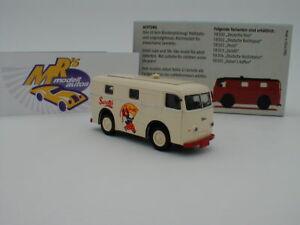 """Brekina 58303 - Starline Models Elektro Paketwagen creme """" Sarotti """" 1:87 NEU !"""