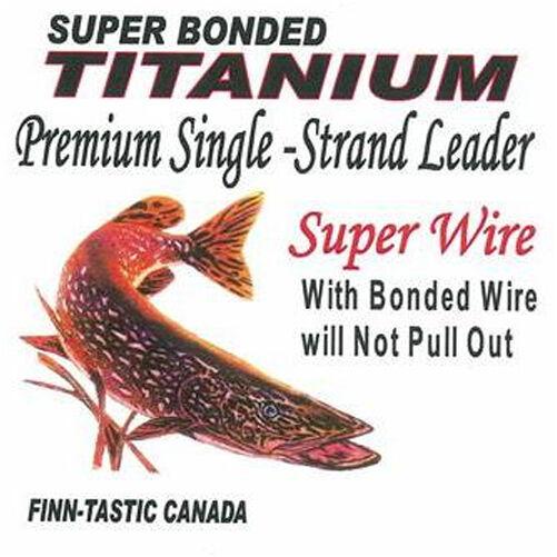 x 9 in. Finn-Tastic Titanium 7-Strand Leader 100 lb