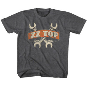 Marque Populaire Zz Top Rock Band Wrenches Kids T Shirt Boys Girls Baby Youth Toddler Tour Merch