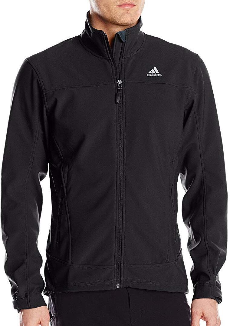 Adidas Softshell  De los hombres Hiking Jacket Agua & viento resistant negro  ventas calientes