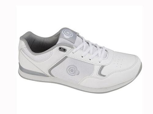 Mens DEK Bowls White Bowling Sports Lace Up Shoes Trainers