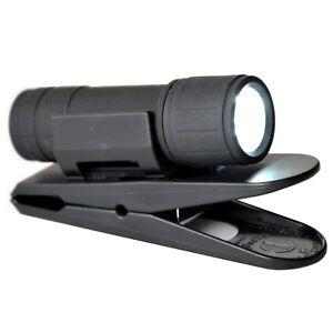HR/Juge Soft Touch main lampe de poche DEL avec pince support parenthèse support  </span>