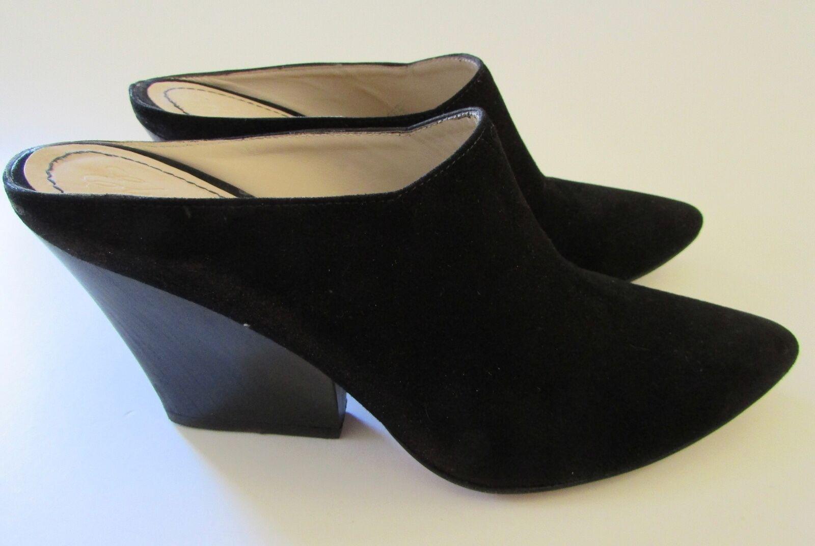 i nuovi marchi outlet online  295 Elizabeth & James  Evie  Pointed Toe Toe Toe nero Suede Wedge Mule 6B  conveniente