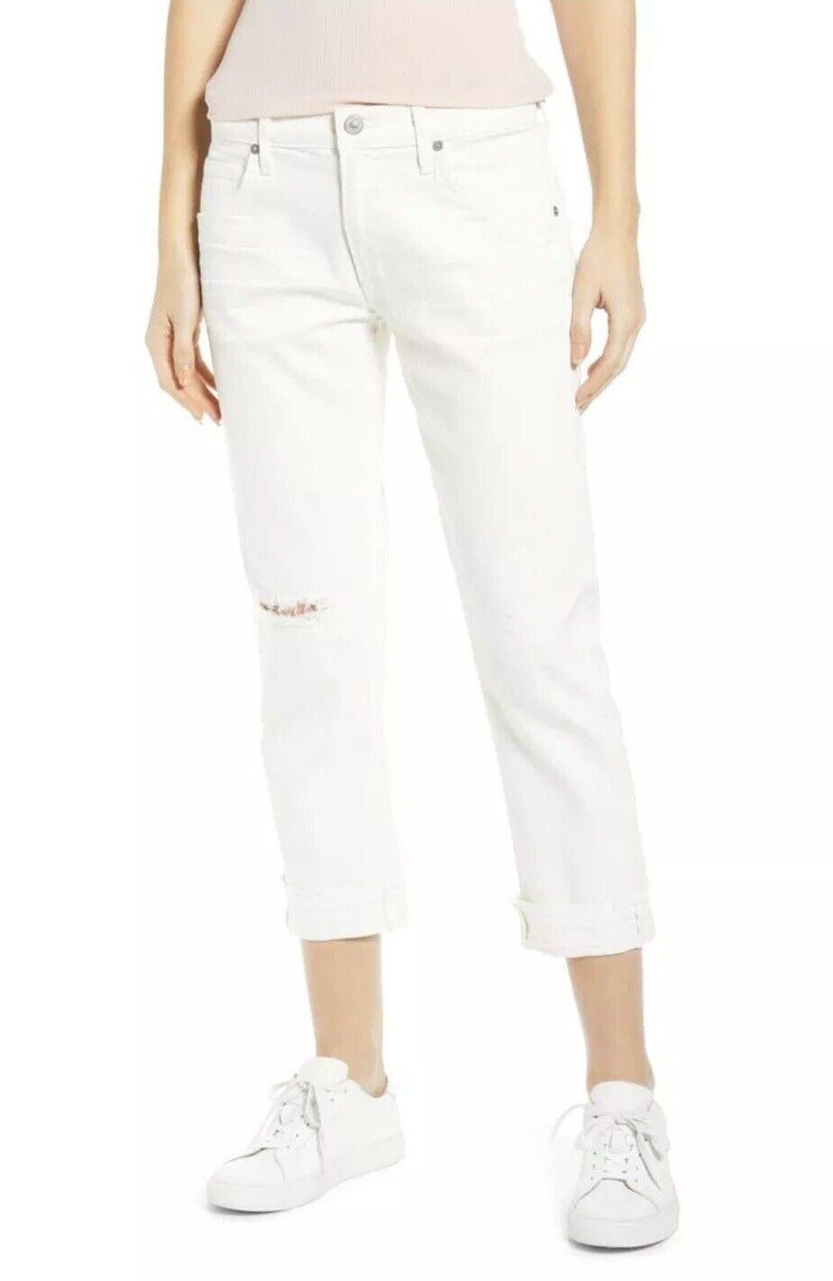 Neuf avec étiquettes Citizens Of l'huhommeité Emerson Crop Slim Boyfriend Jeans Taille 27