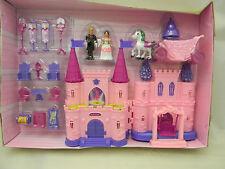 Princess Beauty Castle Play Set Horse Carriage Furniture Swing Prince Figure