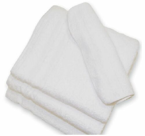 72 new white 100/% cotton hotel wash cloths 12x12 60//s washcloths soft absorbent