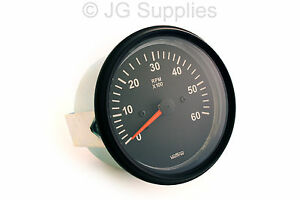 Tachometer-Rev-Counter-0-6000-RPM-85mm-Alternator-Driven-Type-With-W-Terminal