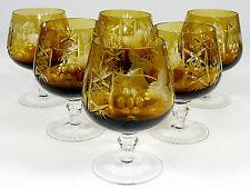 LAUSCHA - 13cm hohe RÖMER Cognacgläser Cognacschwenker Glas TRAUBE - Gelb