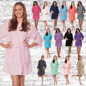 17 monogrammati colori ricamati abiti Robes Bridesmaid Waffle Kimono BrW07ZOr