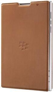 Genuine-Blackberry-Passport-Estuche-Abatible-de-Cuero-Marron-Tostado-ACC-59524-002