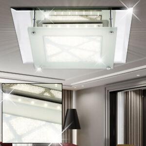 Design DEL Mur Lampe Sommeil Chambre Lampe Verre Cristal Projecteur Argent